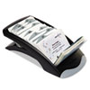 VISIFIX Desk Business Card File Holds 200 4 1/8 x 2 7/8 Cards, Graphite/Black