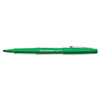 Paper Mate Point Guard Flair Porous Point Stick Pen, Green Ink, Medium, Dozen