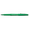 Paper Mate Point Guard Flair Porous Point Stick Pen, Green Ink, Medium, Dozen