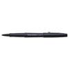 Paper Mate Point Guard Flair Porous Point Stick Pen, Black Ink, Medium, Dozen