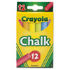 Crayola Chalk, Two Each of Six Assorted Colors, 12 Sticks/Box
