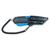 Box Cutter Knife w/Shielded Blade, Black/Blue