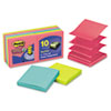 Post-it Pop-up Notes Super Sticky Pop-Up Notes, 3 x 3, Jewel Pop, 10 90-Sheet Pads/Pack