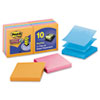 Post-it Pop-up Notes Super Sticky Pop-Up Notes, 3 x 3, Electric Glow, 10 90-Sheet Pads/Pack
