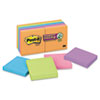 Post-it Notes Super Sticky Note Pads in Electric Glow Colors, 3 x 3, Assorted, 12 90-Sheet Pads/Pack