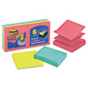 Post-it Pop-up Notes Super Sticky Pop-Up Refill, 3 x 3, 3 Jewel Pop Colors, 6 90-Sheet Pads/Pack