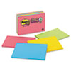 Super Sticky Large Format Notes, 6 x 4, Electric Glow, 8 45-Sheet pads/Pack