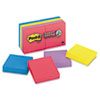 Post-it Notes Super Sticky Pads in Jewel Pop Colors, Ninety 2 x 2 Sheets, 8 Pads/Pack