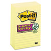 Post-it Notes Super Sticky Super Sticky Notes, 4 x 6, Lined, Canary Yellow, 5 90-Sheet Pads/Pack