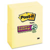 Post-it Notes Super Sticky Super Sticky Notes, 3 x 5, Canary Yellow, 12 90-Sheet Pads/Pack