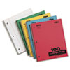 Kraft Subject Notebook, College Rule, 9 x 11, White, 100 Sheets