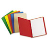 Paper Report Cover, Tang Clip, Letter, 1/2&quot; Capacity, Assorted Colors, 25/Box