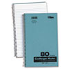Backpack Notebook, College Rule, 6 x 9-1/2, White, 80 Sheets/Pad