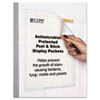 Antimicrobial Peel and Stick Display Pockets, 8 1/2 x 11, 10/Pack