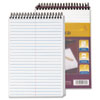 TOPS Docket Gold Spiral Steno Book, Gregg Rule, 6 x 9, White, 100 Sheets/Pad