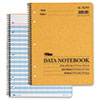 Data Notebook w/Nine Columns, 8-1/2 x 11, White, 50 Sheets/Pad