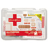 All Purpose First Aid Kit, 140 Pieces, Plastic Case