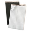 Gold Fibre Spiral Steno Book, Gregg Rule, 6 x 9, White/BY, 100 Sheets/Pad