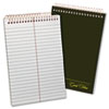 Gold Fibre Spiral Steno Book, Gregg Rule, 6 x 9, White/GN, 100 Sheets/Pad