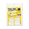 Self-Adhesive Tabs with White Printable Inserts, One Inch, Clear Tab, 25/Pack