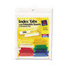 Self-Adhesive Tabs, Printable Inserts, 1 1/2 Inch, Assorted Tab, White, 25/Pack