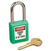 No. 410 Lightweight Xenoy Safety Lockout Padlock, 6 Pin, Green