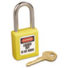 No. 410 Lightweight Xenoy Safety Lockout Padlock, 6 Pin, Yellow