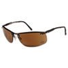 HD 700 Series Safety Glasses, Gunmetal Frame, Brown Mirror Lens