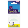 NoteTabs-Notes, Two Inch Tabs and Flags in One, Pastel Blue/Green/Clear, 20/Pack