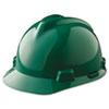 MSA V-Gard Hard Hats, Fas-Trac Ratchet Suspension, Green