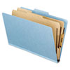 Presssboard Classification Folder, Six-Section, Letter, Light Blue