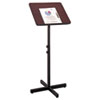 Adjustable Speaker Stand, 21w x 21d x 30h to 46h, Mahogany/Black