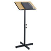 Adjustable Speaker Stand, 21w x 21d x 30h to 46h, Medium Oak/Black