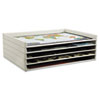 Giant Stack Flat File Trays, 45 1/2w x 34d x 3h, White, 2/CT