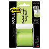 Full Adhesive Label Roll, 2 x 400, Green, 1/Roll