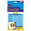 PocketTab Repositionable Storage Pockets, 5 x 5 1/2, Lime, 5/Pack