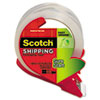 "Sure Start Packaging Tape w/Dispenser, 1.88"" x 38.2yds, 1.88"" Core, Clear"