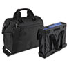 Overnight Tote Bag, 1,680-Denier Ballistic Nylon, 9 x 16-1/2 x 14, Black