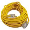 CCI Polar/Solar Outdoor Extension Cord, 50ft, Yellow