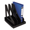 Universal Vertical Add-On Sorter, Plastic, 3 Compartments, Black