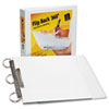 "Durable Flip Back Round Ring View Binder, 1"" Capacity, White"