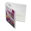 Durable Flip Back Round Ring View Binder, 1-1/2&quot; Capacity, White