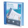 "Avery Flexible Round Ring Binder, 1"" Capacity, Blue"