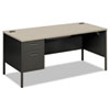 Metro Classic Left Pedestal Desk, 66w x 30d, Gray Patterned/Charcoal