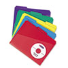 Slash Pocket Poly File Folders, 1/3 Cut Top Tab, Letter, Assorted, 30/Box
