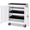 Mobile Tablet Storage Cart, 36w x 24d x 43h, White