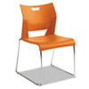 Duet Series Stacking Chair, Polypropylend, Orange, 4 Chairs/Carton