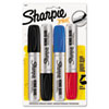 Sharpie King Size Markers, Chisel Tip, Blue/Red/Black, 4/Set