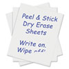 Peel and Stick Dry Erase Sheets, 17 x 24, White, 15 Sheets/Box