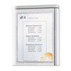 Cubicle Keepers, Velcro-Backed Display Holders, 8 1/2 x 11, Clear, 2/Pack
